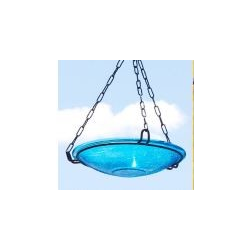 Hanging Bird Bath w/ Glass Bowl