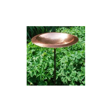 Hammered Copper Birdbath