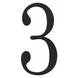 Traditional House Number 3 - Six Inch
