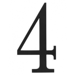 Traditional House Number 4  - Six Inch