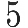 Traditional  House Number 5 - Six Inch