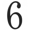 Traditional House Number 6 - Six Inch