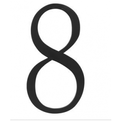 Traditional House Number 8 - Six Inch