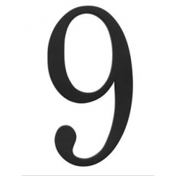Traditional House Number 9 - Six Inch