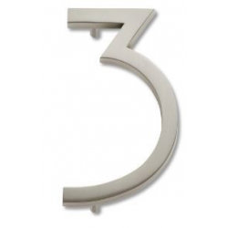 Modern House Number 3 - Aged Bronze