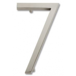 Modern House Number 7 Brushed Nickel
