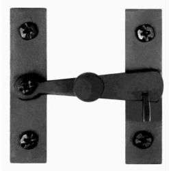 Bar Knob Cabinet Latch Black Finish
