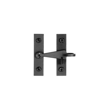 Pigtail Cabinet Latch Black Finish