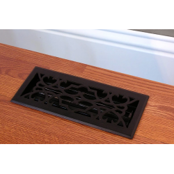 Victorian Black Iron Floor Vent