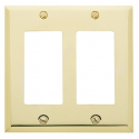 Polished Brass Double GFI Switch Plate