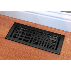 Cast Iron Art Deco Floor Vent