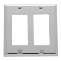 Polished Chrome Beveled Edge Double GFI