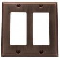 Venetian Bronze Beveled Edge Double GFI