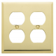 Polished Brass Double Outlet Plate