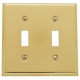 Polished Brass Double Toggle Switch Plate