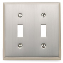 Satin Nickel Beveled Edge Double Toggle