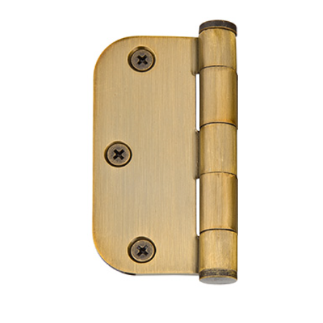 "5/8"" radius, solid brass hinges"