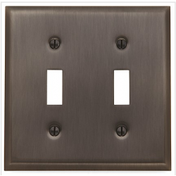Venetian Bronze Beveled Edge Double Toggle