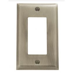 Satin Nickel Beveled Edge GFI