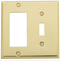 Polished Brass Single Toggle/ Single GFI Combo