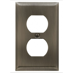 Antique Nickel Beveled Edge Outlet