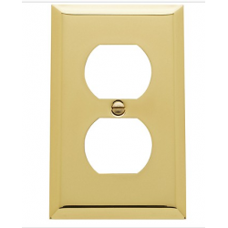 Polished Brass Beveled Edge Outlet