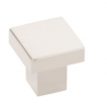 Modern Raised Square Knob Satin Nickel