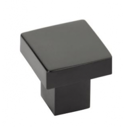 Modern Raised Square Knob - Flat Black Finish