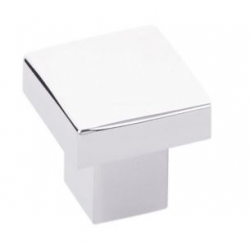 Modern Raised Square Knob - Polished Chrome Finish