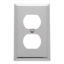 Polished Chrome Beveled Edge Outlet