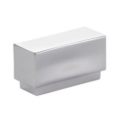 Modern Rectangular Knob Polished Chrome