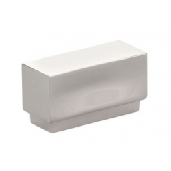 Modern Rectangular Knob Polished Nickel