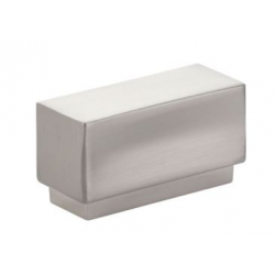 Modern Rectangular Knob Satin Nickel