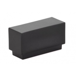 Modern Rectangular Knob Flat Black