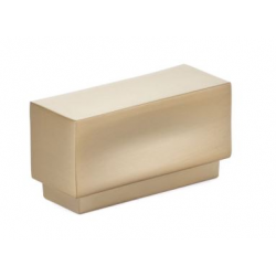 Modern Rectangular Knob Satin Brass
