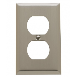 Satin Nickel Beveled Edge Outlet