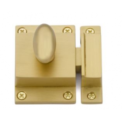 Cabinet Latch Satin Brass