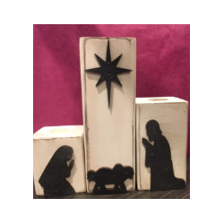 Nativity Three Piece Candle Set