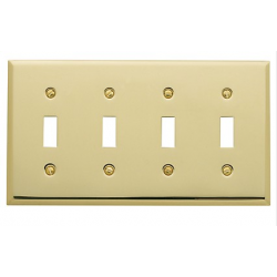 Polished Brass Beveled Quad Toggle