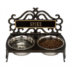 Bistro Dog Feeder - Black & Gold