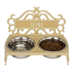 Bistro Dog Feeder Curry & White
