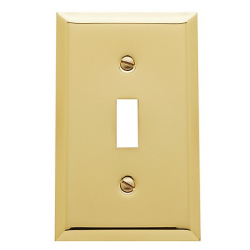 Polished Brass Beveled Single Toggle