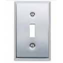 Polished Chrome Beveled Edge Single Toggle
