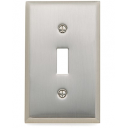 Satin Nickel Beveled Edge Single Toggle