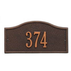Rolling Hills Mini Address Plaque