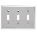 Polished Chrome Beveled Edge Triple Toggle