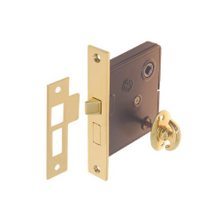 Interior Mortise Turn Knob Lock - 3 Finishes