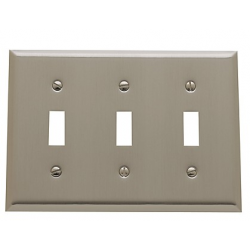 Satin Nickel Beveled Edge Triple Toggle