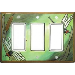 Dragonfly Triple Decora Switch Plate