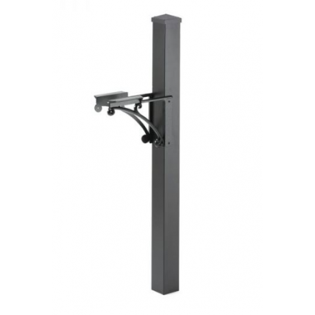 Superior Post and Brackets with Post Cap- Black